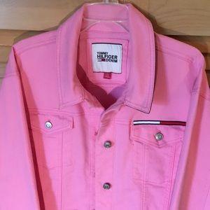 NWOT Tommy Hilfiger Denim Jeans Jacket in Pink